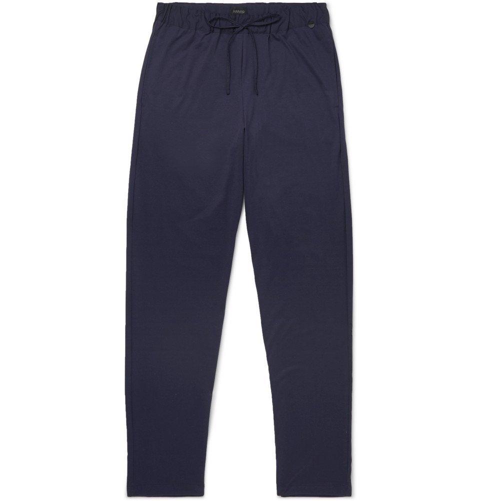 Hanro - Cotton Pyjama Trousers - Men - Blue