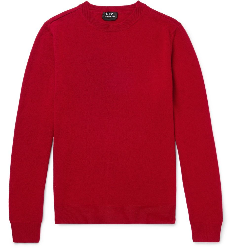 Photo: A.P.C. - Felix Wool and Cashmere-Blend Sweater - Red