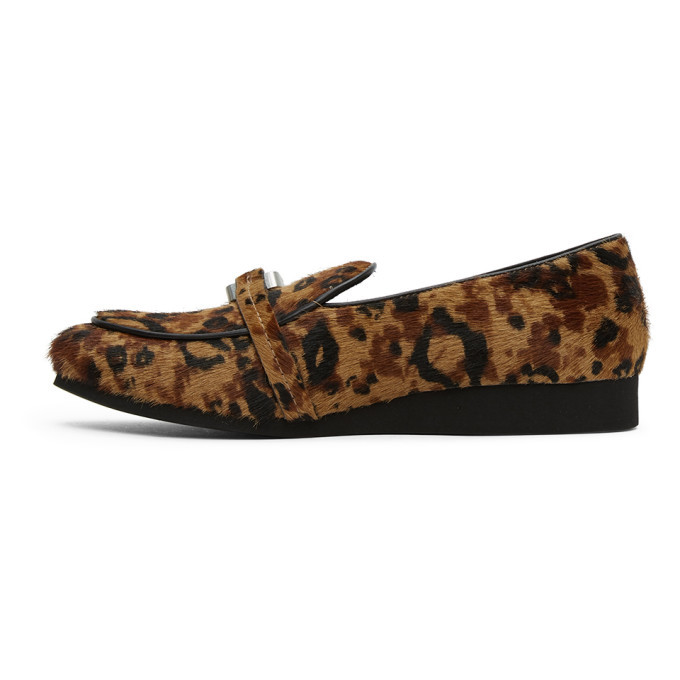 1017 ALYX 9SM Brown and Black Leopard St. Marks Loafers