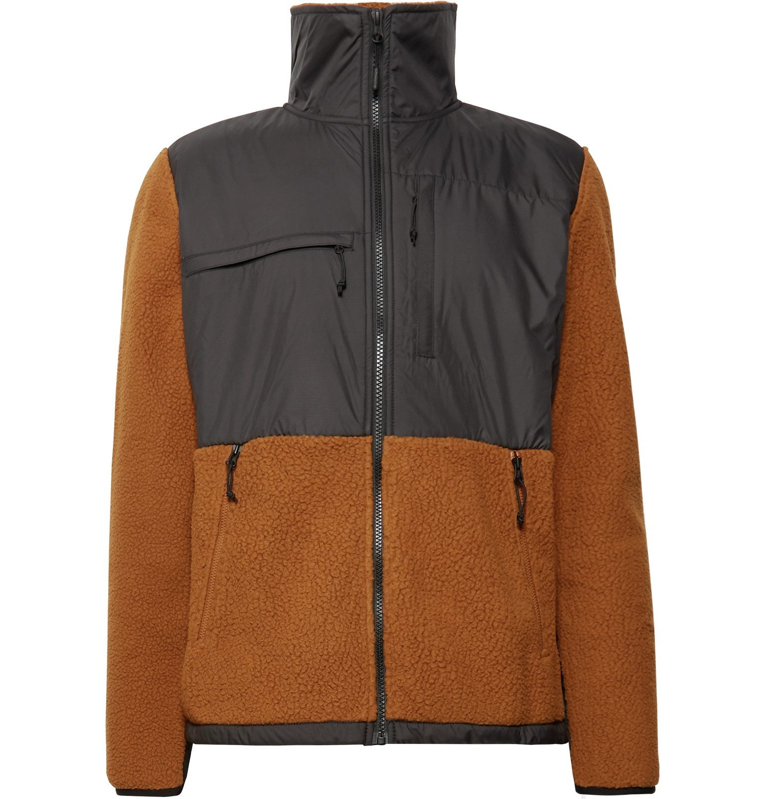Photo: The North Face - Denali Panelled Fleece and Shell Jacket - Brown