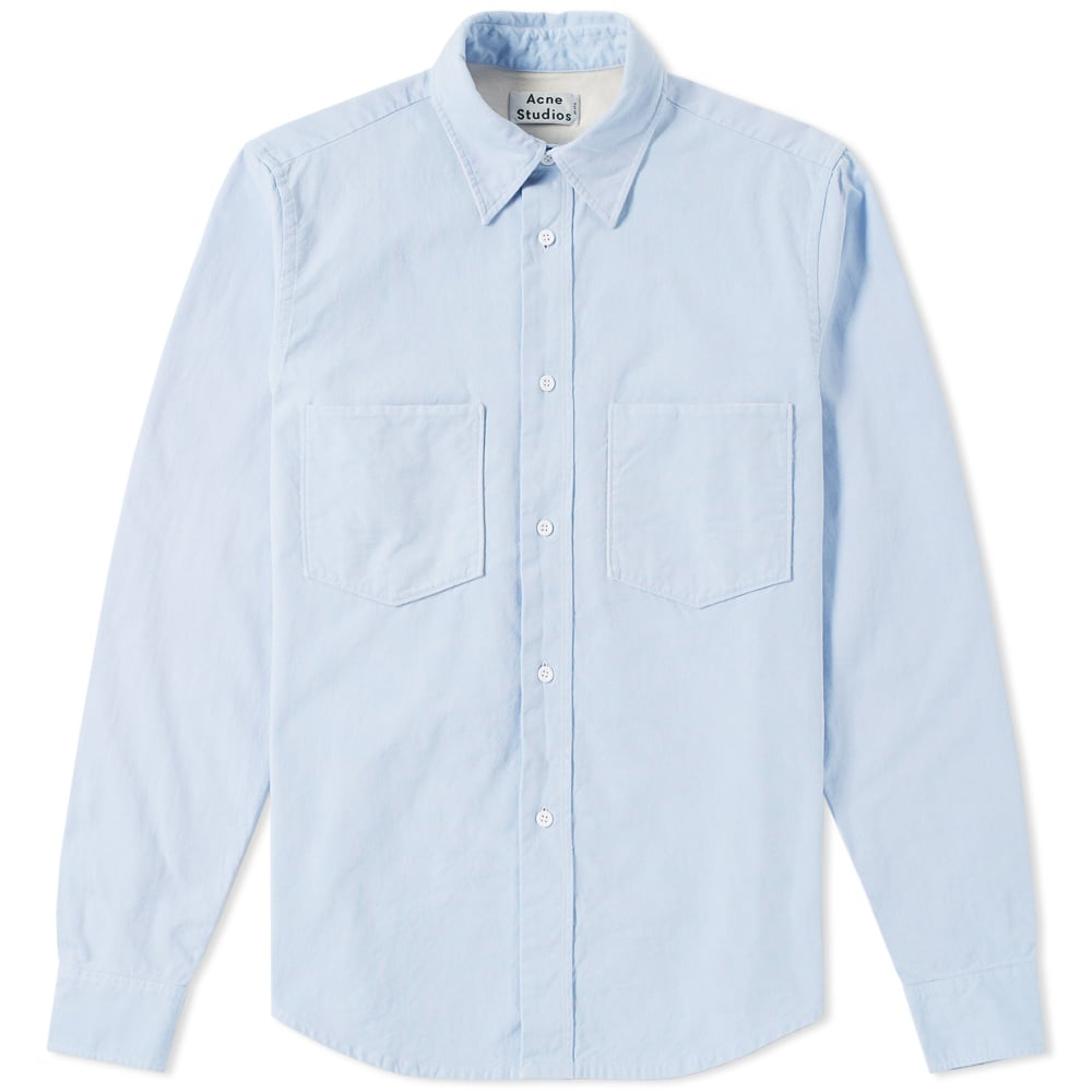 Photo: Acne Studios Lincoln Canvas Shirt Blue