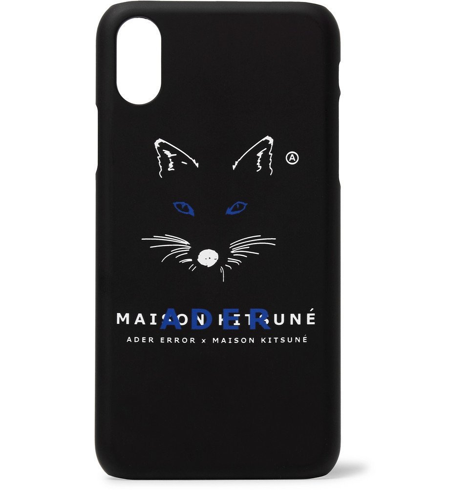 Photo: Maison Kitsuné - ADER error Logo-Print iPhone X Case - Black
