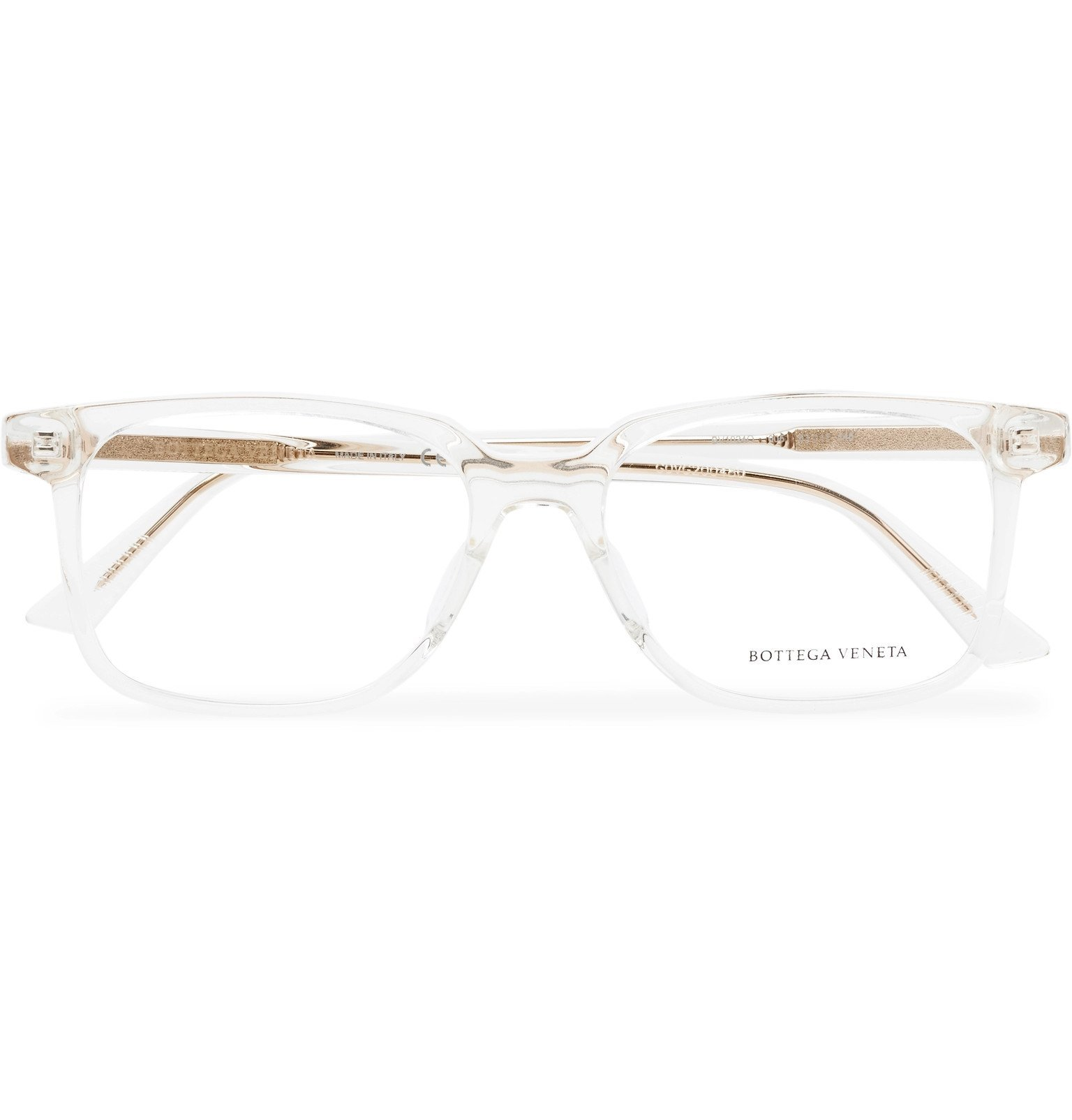 Photo: Bottega Veneta - D-Frame Acetate and Gold-Tone Optical Glasses - Neutrals