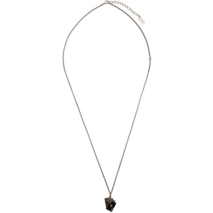 Photo: Saint Laurent Silver Playing Cards Necklace