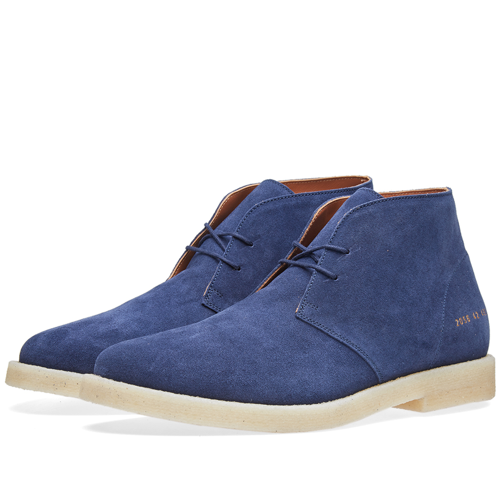 Photo: Common Projects Crepe Sole Chukka Suede Blue