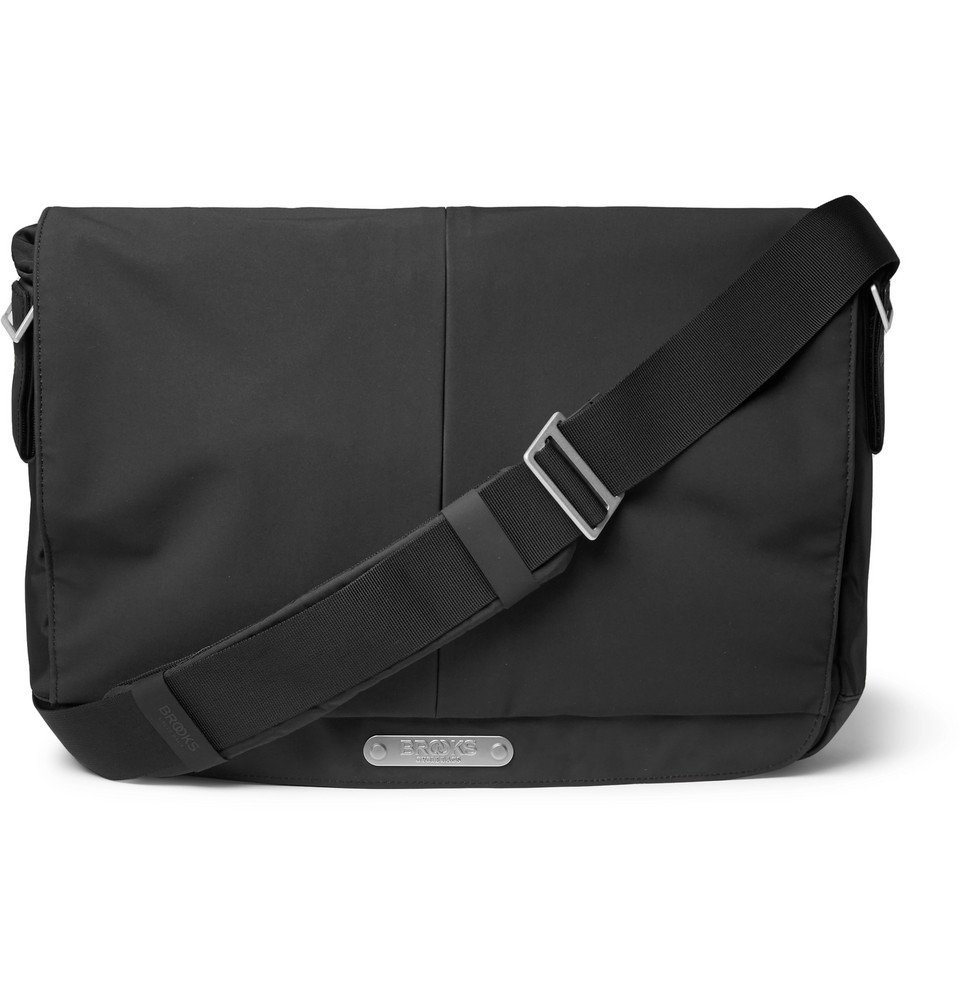 Photo: Brooks England - Strand Coated-Nylon and CORDURA Messenger Bag - Black