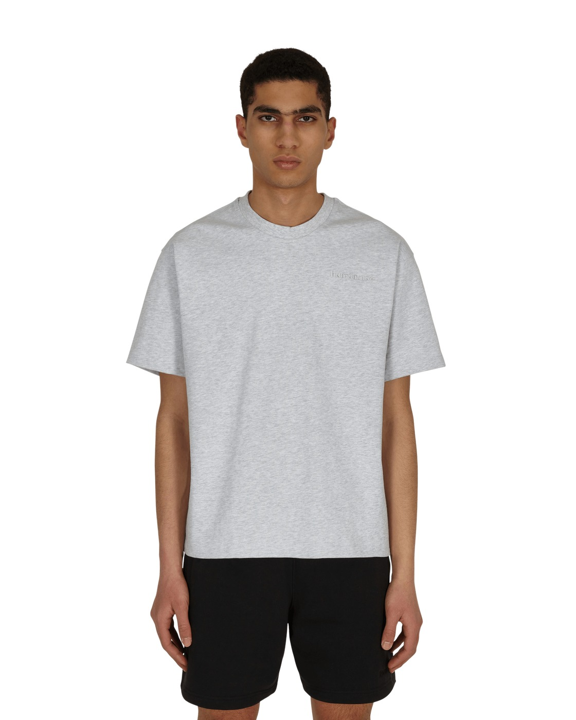 Photo: Adidas Originals Pharrell Williams Basics T Shirt Light Grey Heather