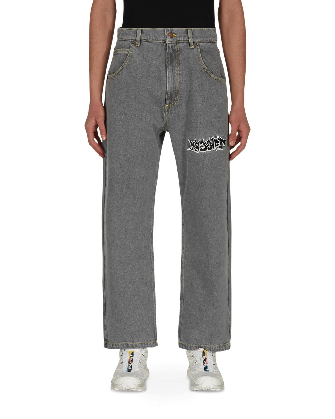 Photo: Paccbet Embroidered Denim Pants Light Grey