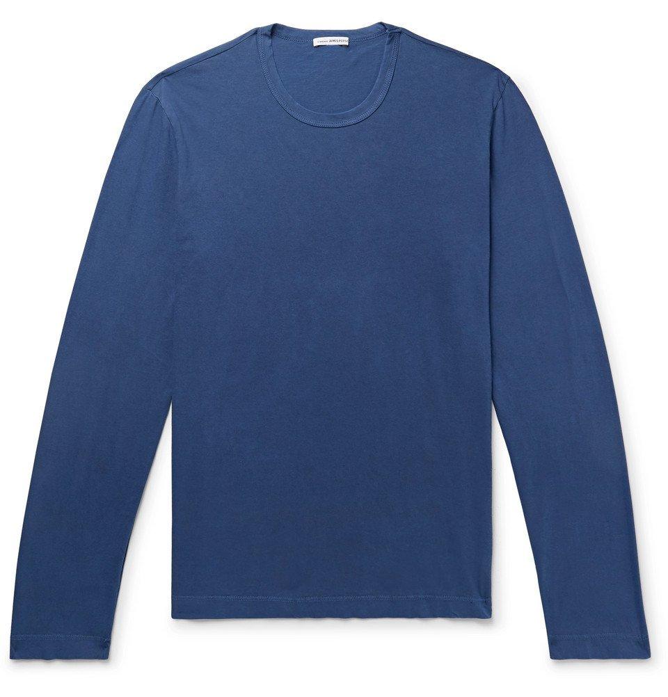 Photo: James Perse - Combed Cotton Jersey T-Shirt - Cobalt blue