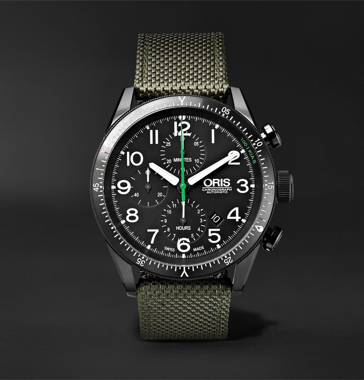 Photo: Oris - Paradropper Limited Edition Automatic Chronograph 44mm Titanium and Canvas Watch, Ref. No. 01 774 7661 7734 - Black