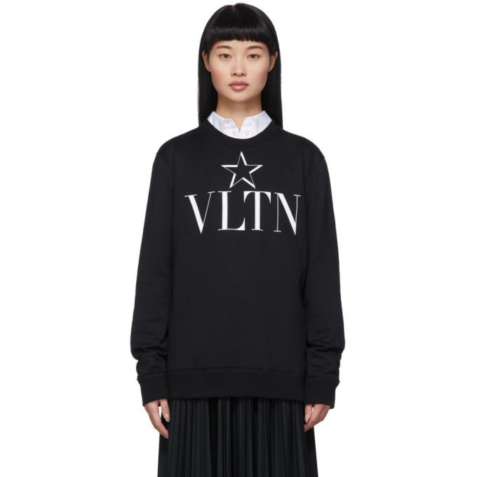 Photo: Valentino Black VLTN Star Sweatshirt