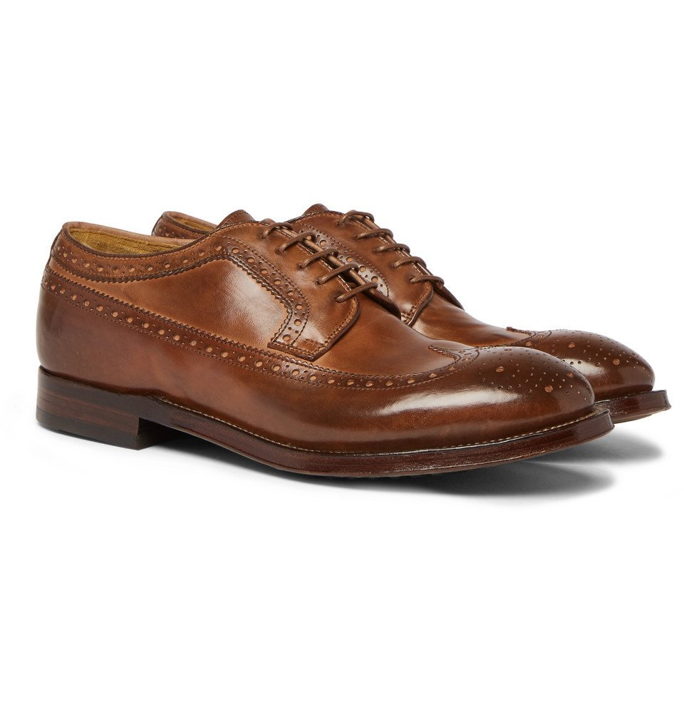 Photo: Officine Creative - Williams Burnished-Leather Brogues - Men - Brown