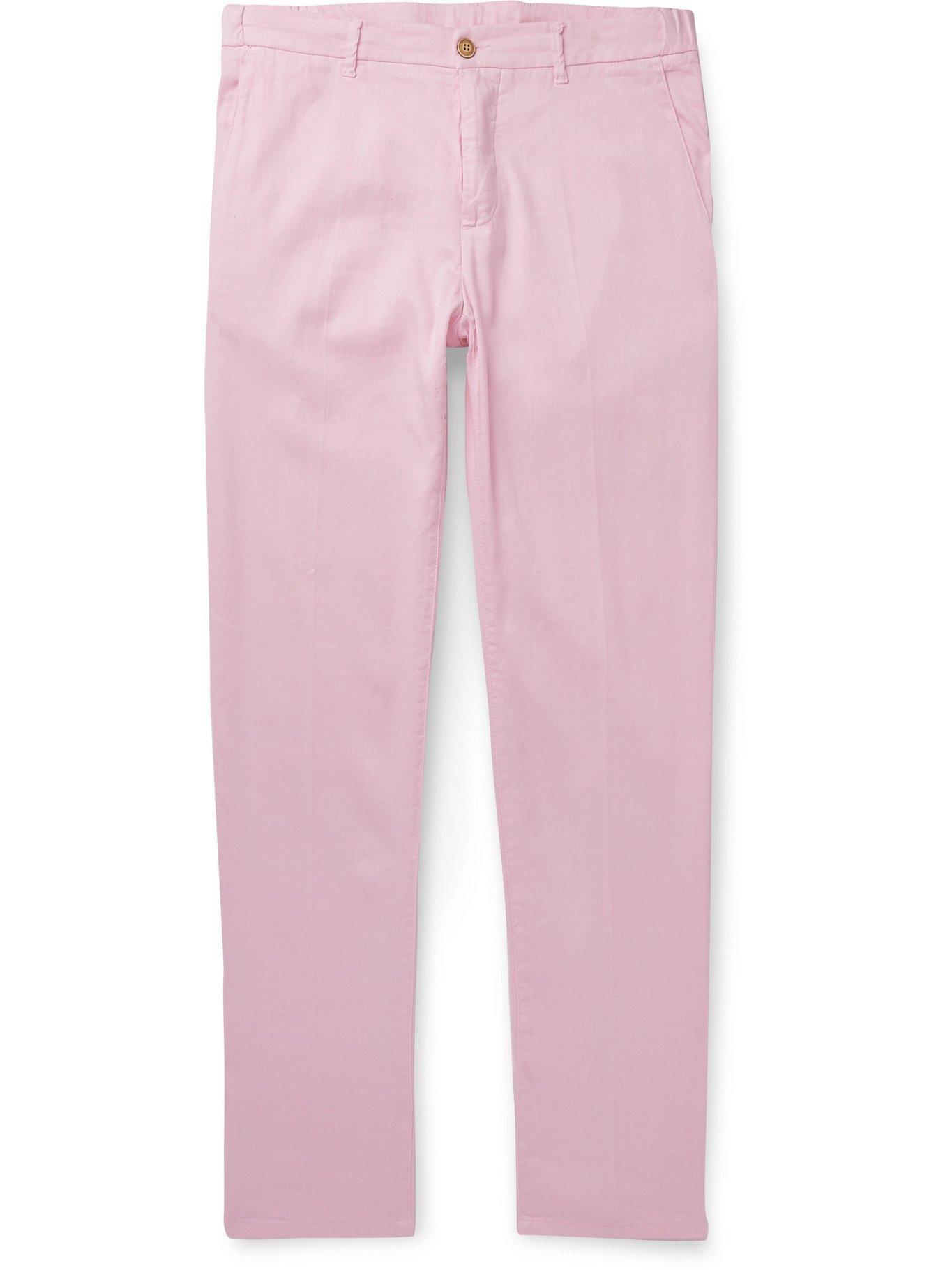 Photo: ALTEA - Dumbo Linen-Blend Trousers - Pink