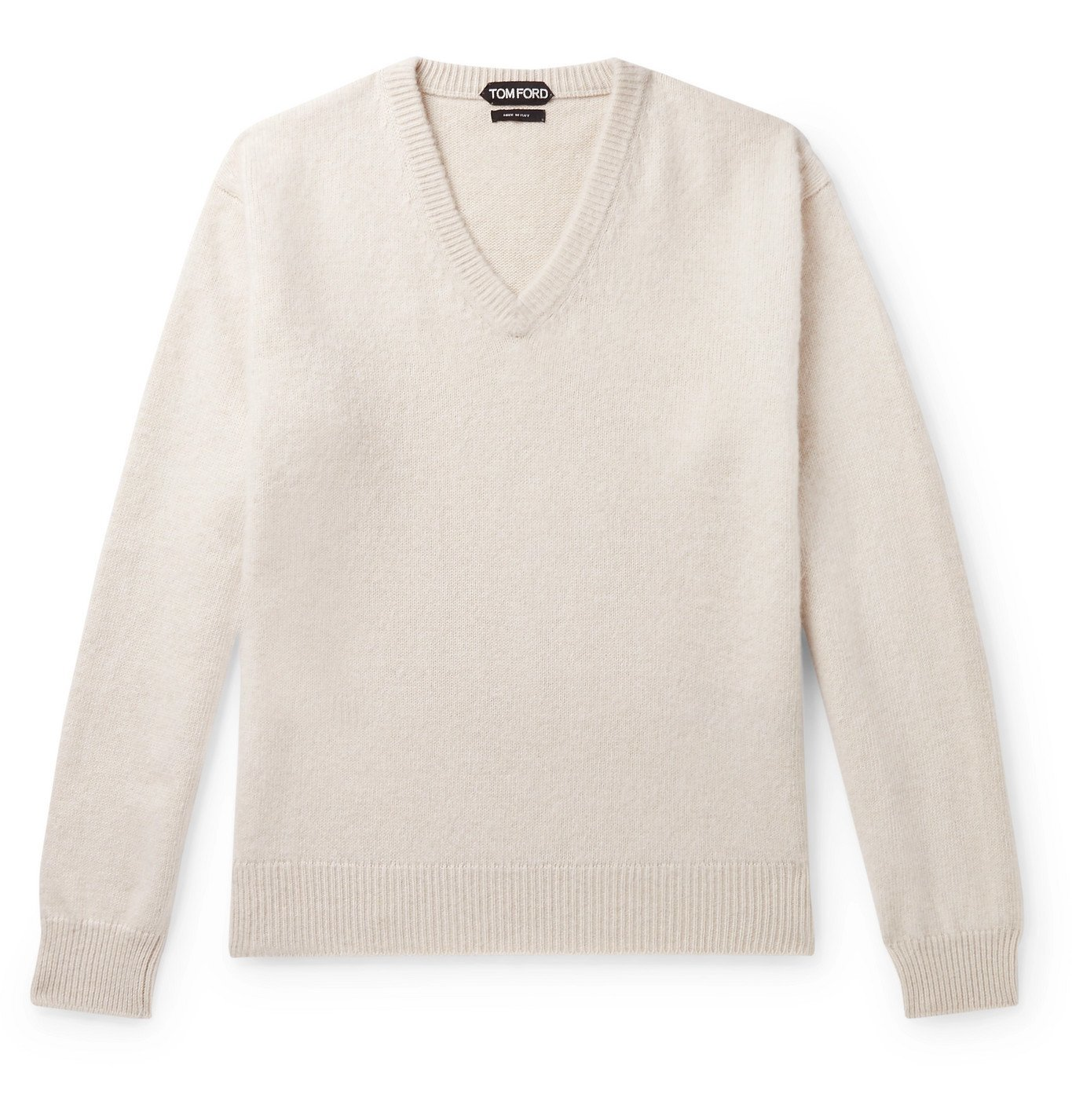 Photo: TOM FORD - Slim-Fit Brushed-Cashmere Sweater - Neutrals