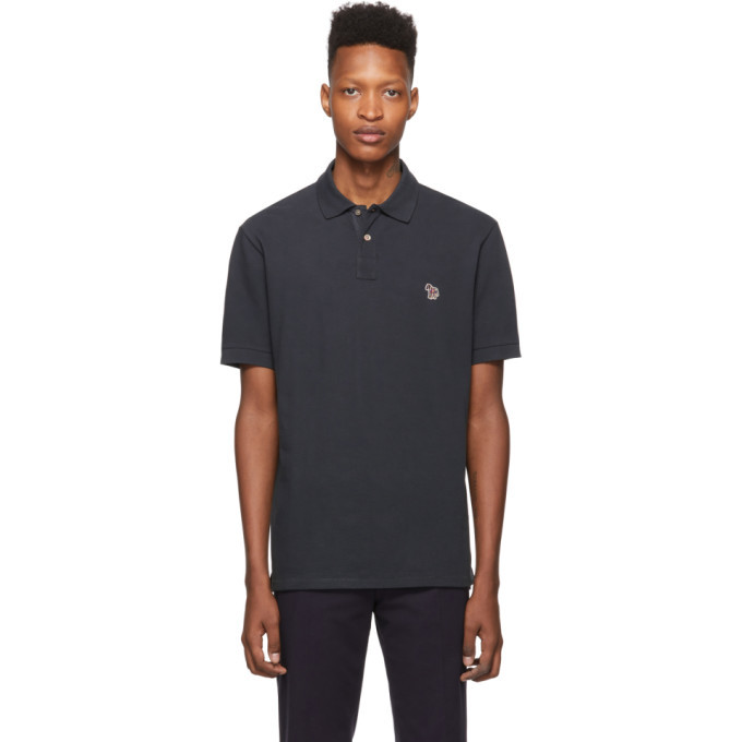 PS by Paul Smith Navy Zebra Slim Fit Polo