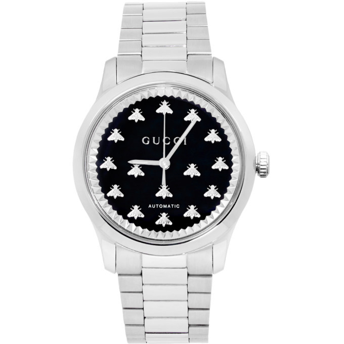 Photo: Gucci Silver G-Timeless 38mm Watch