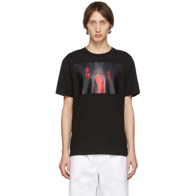 Raf Simons Black Twin Peaks T-Shirt