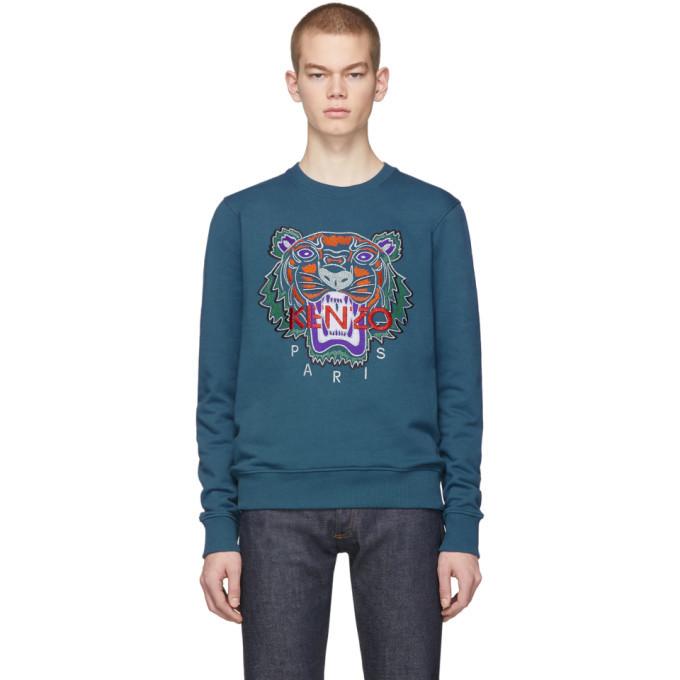 Photo: Kenzo Blue Limited Edition Holiday Tiger Sweatshirt