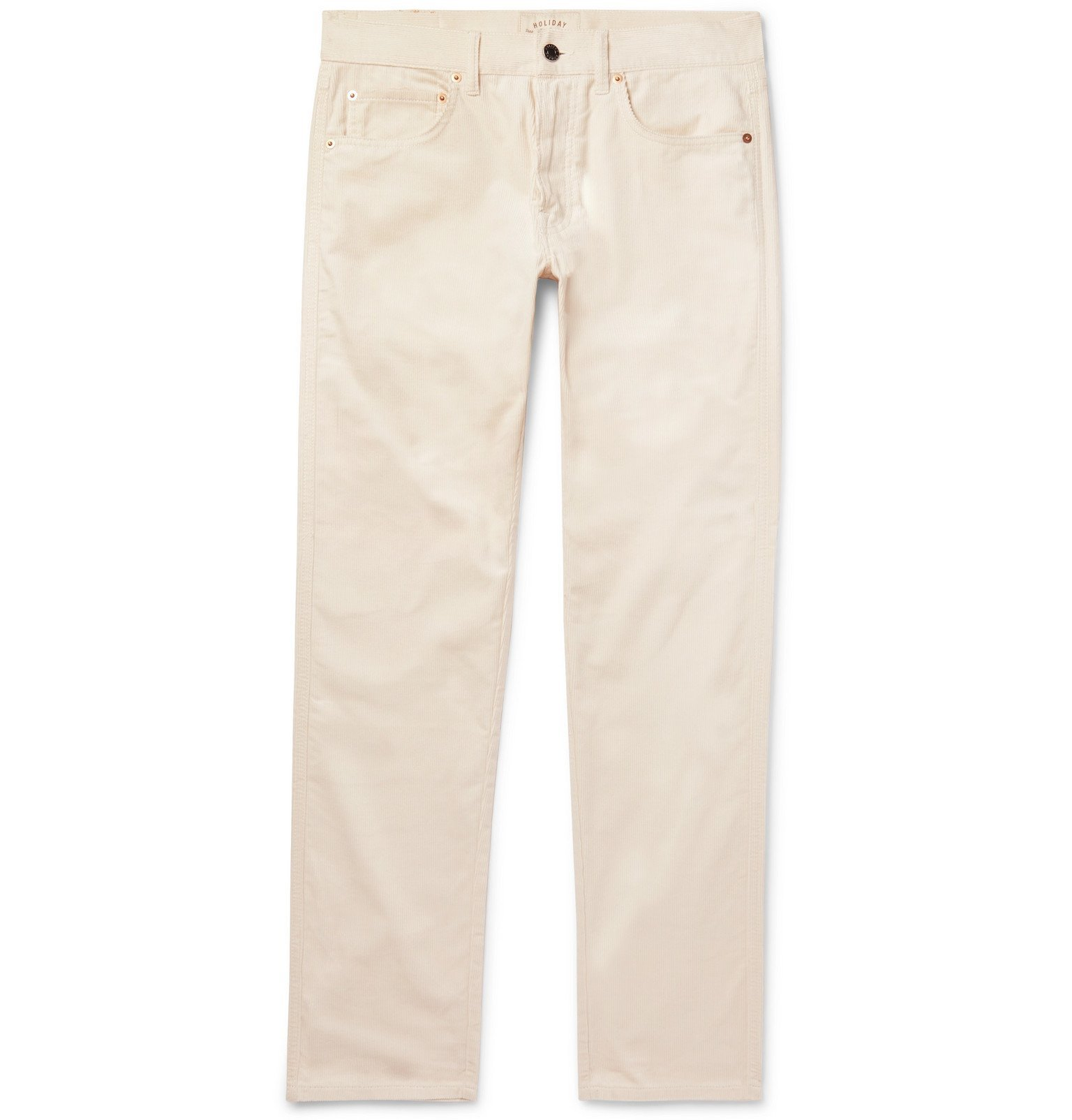 Photo: Holiday Boileau - Cotton-Corduroy Trousers - Off-white
