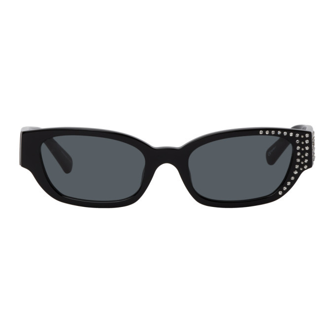 Photo: Magda Butrym Black Linda Farrow Edition Crystal Sunglasses