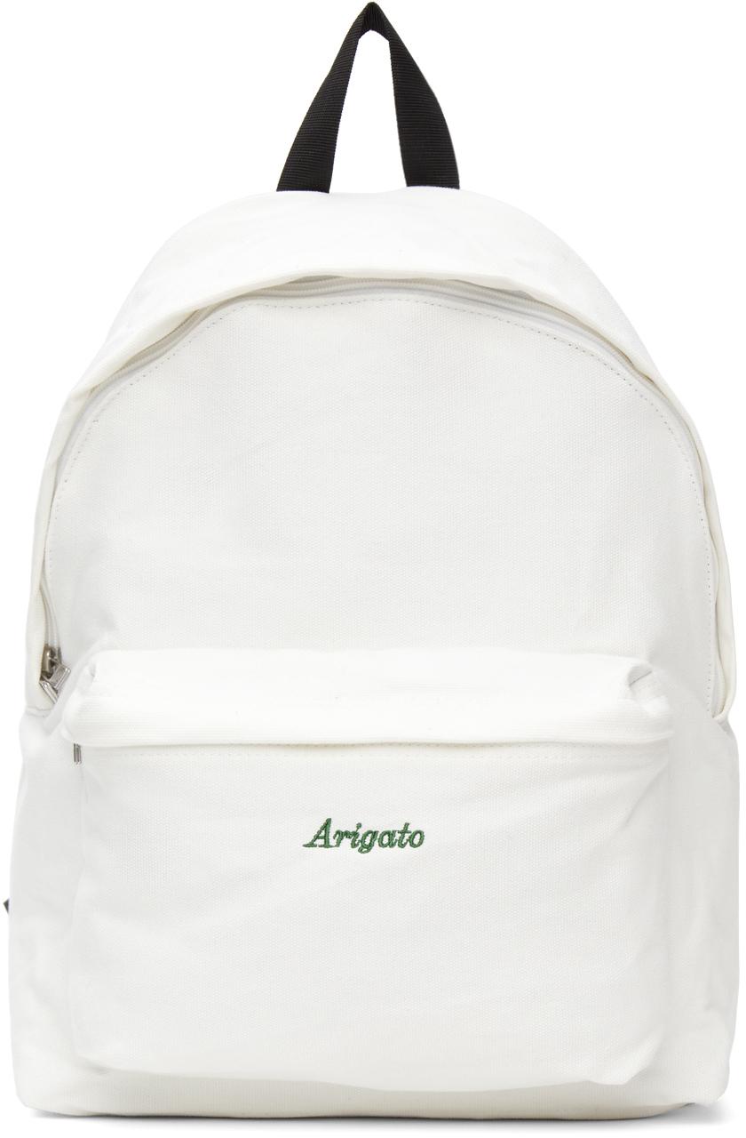 Photo: Axel Arigato White Script Logo Backpack