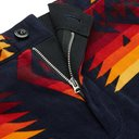 Sacai - Pendleton Slim-Fit Printed Cotton-Corduroy Trousers - Men - Navy
