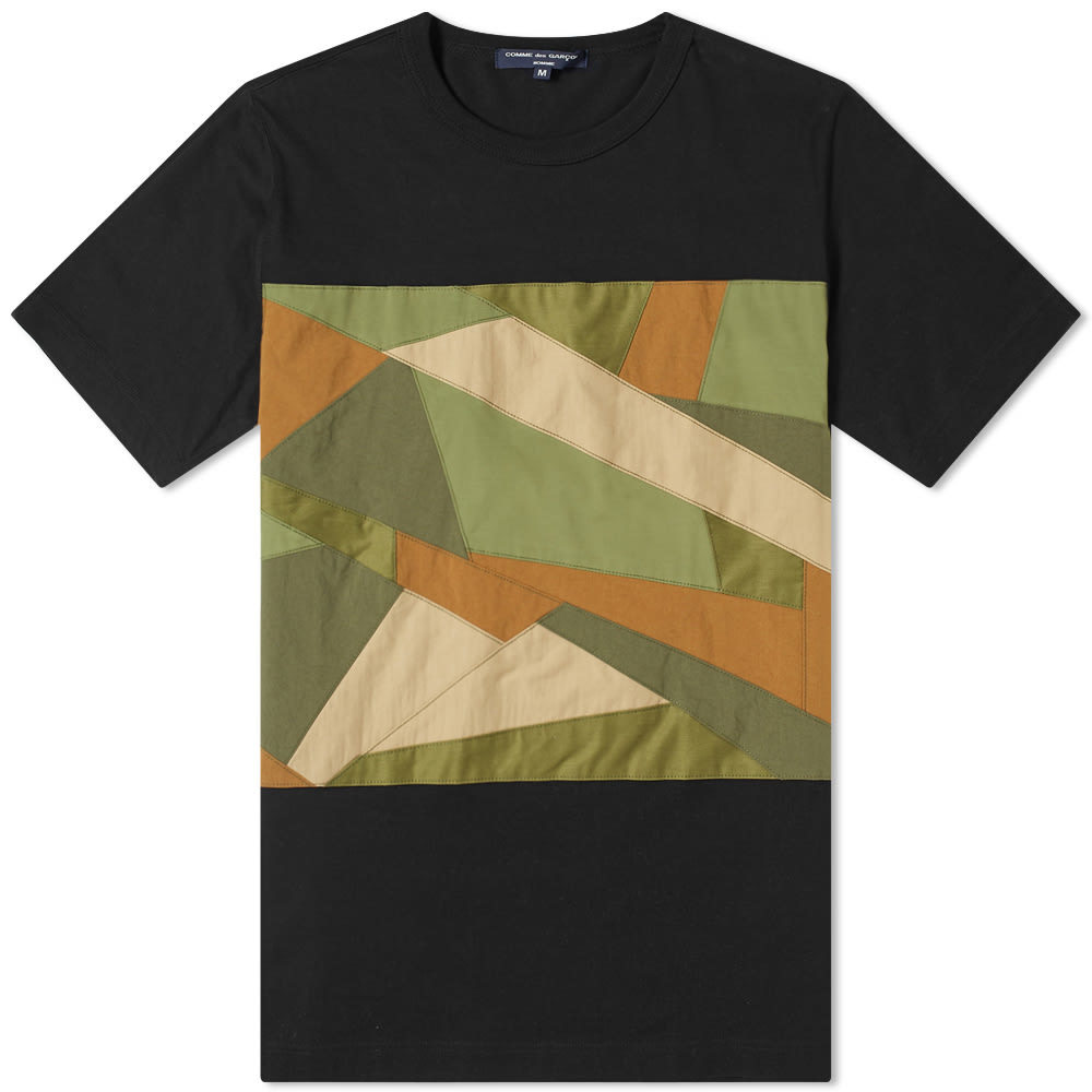 Photo: Comme des Garcons Homme Fabric Camo Insert Tee