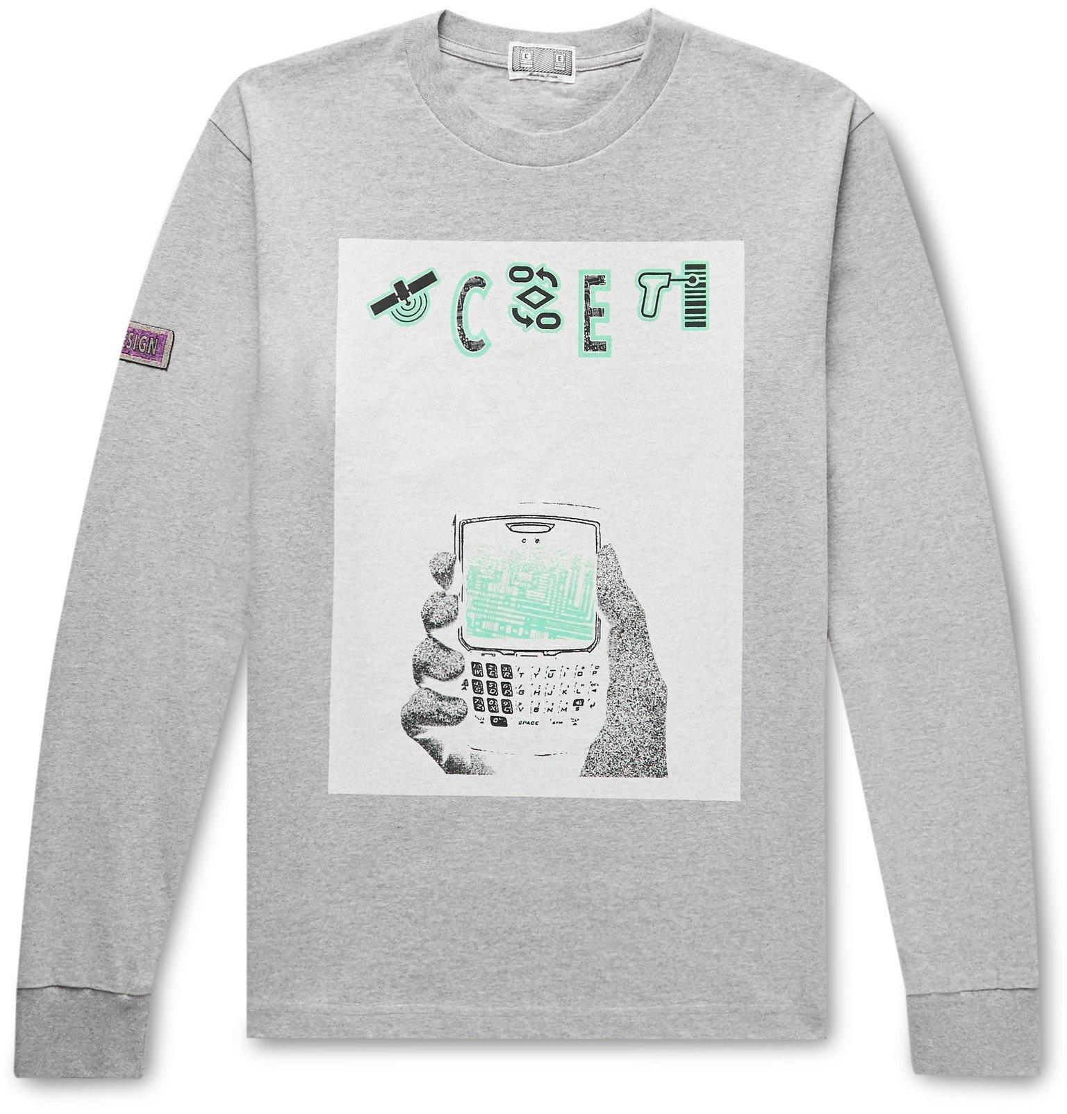 Photo: Cav Empt - Printed Mélange Cotton-Jersey T-Shirt - Gray