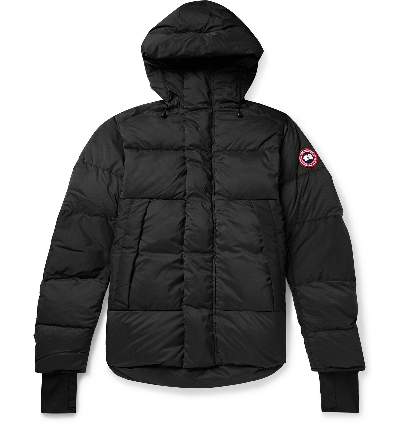 Photo: Canada Goose - Armstrong Packable Quilted Nylon-Ripstop Hooded Down Jacket - Black