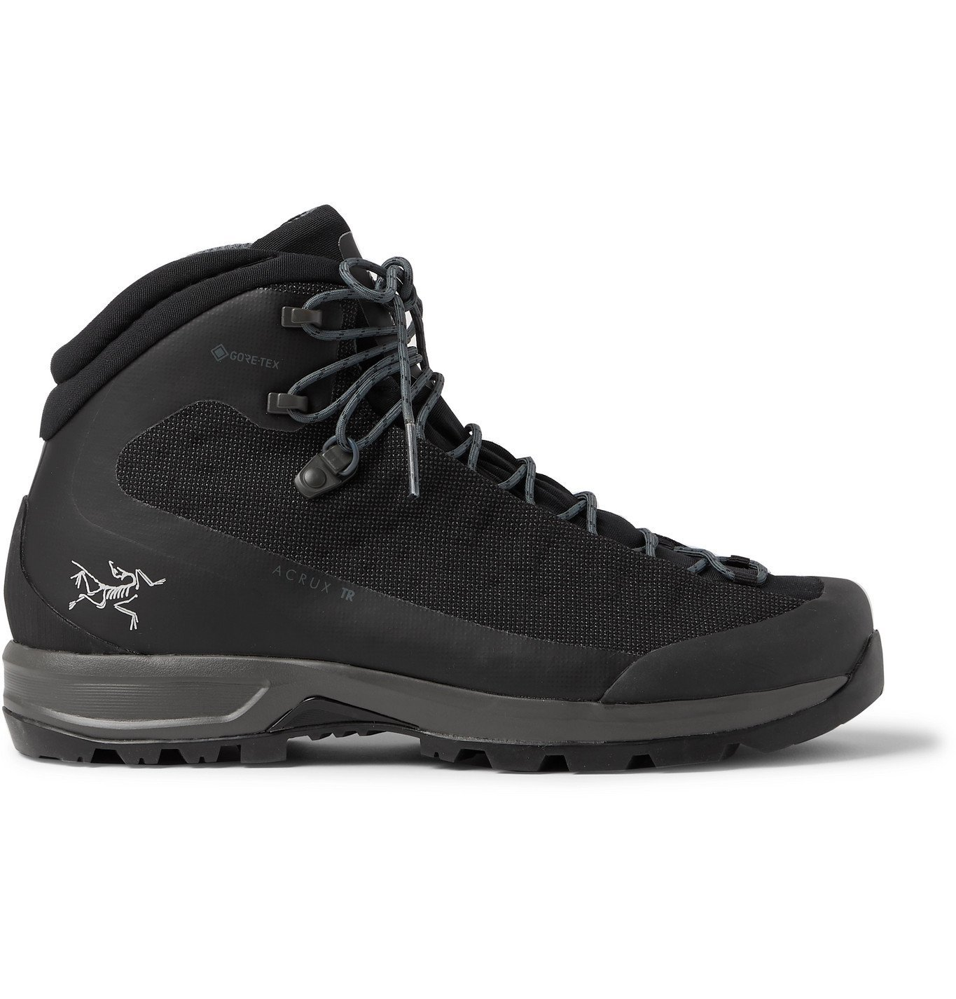 Photo: Arc'teryx - Acrux TR GTX Rubber-Trimmed SuperFabric and GORE-TEX Hiking Boots - Black