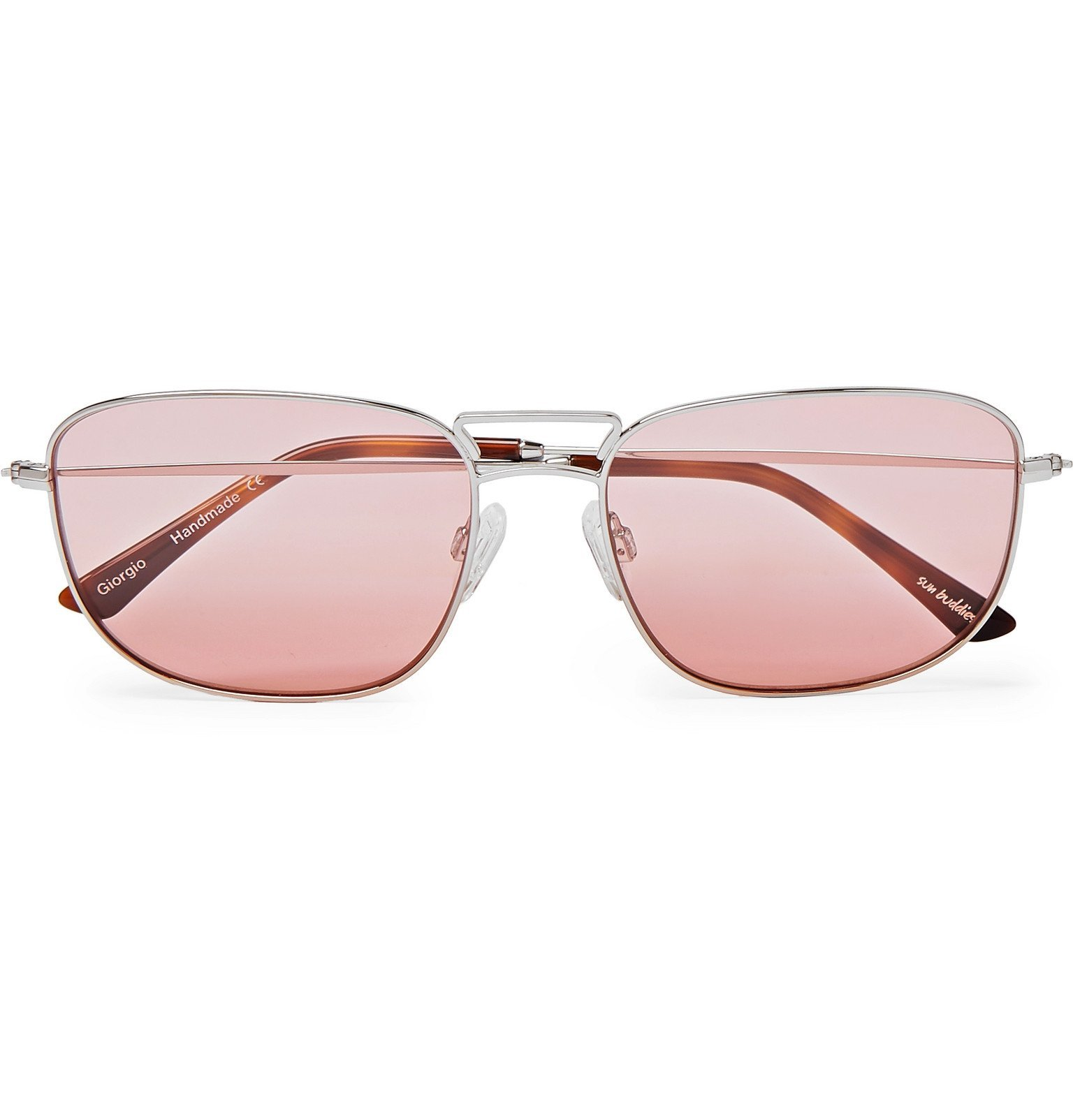 Photo: Sun Buddies - Caravan Aviator-Style Silver-Tone Sunglasses - Silver