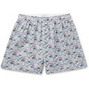 Sunspel - Printed Cotton Boxer Shorts - Multi