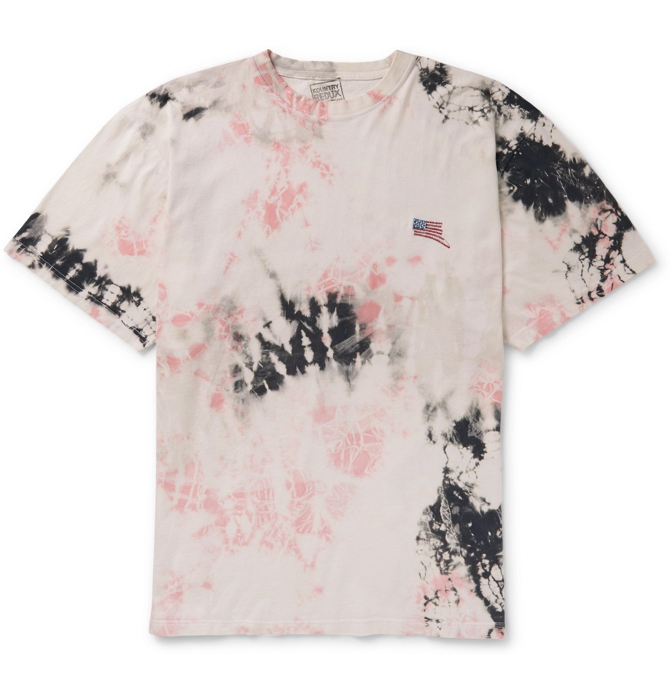 KAPITAL - Ashbury Oversized Embroidered Tie-Dyed Cotton-Jersey T-Shirt - Neutrals