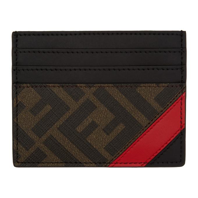 Photo: Fendi Black and Red Forever Fendi Card Holder
