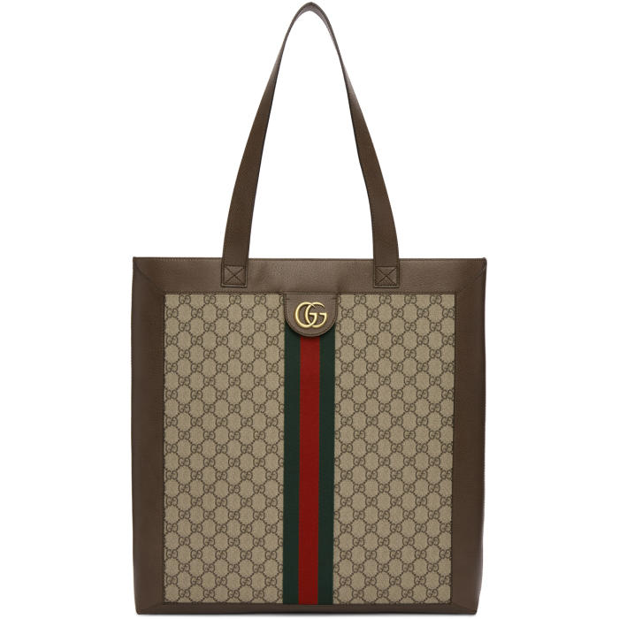 Photo: Gucci Beige GG Supreme Tote