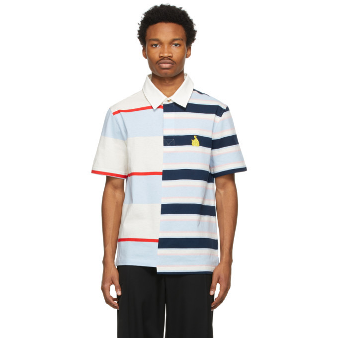 Photo: Lanvin Multicolor Rugby Patchwork Polo