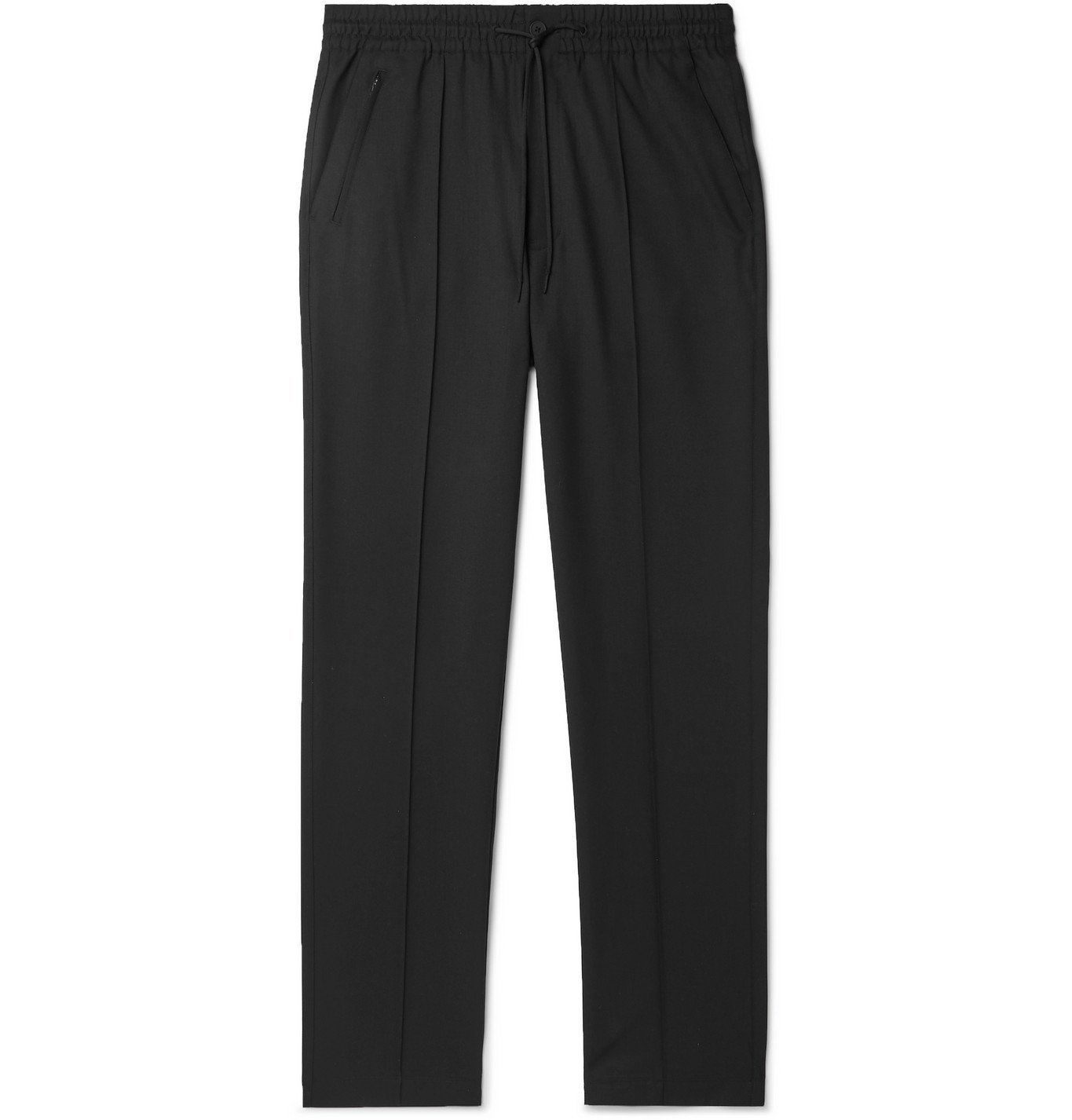 Photo: Y-3 - Wool-Blend Twill Track Pants - Black