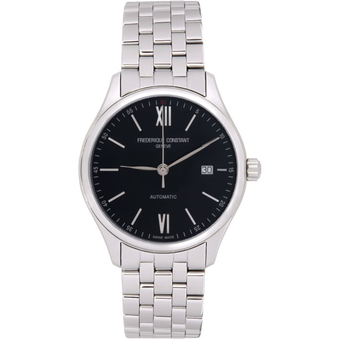 Photo: Frederique Constant Silver and Black Classics Index Automatic Watch