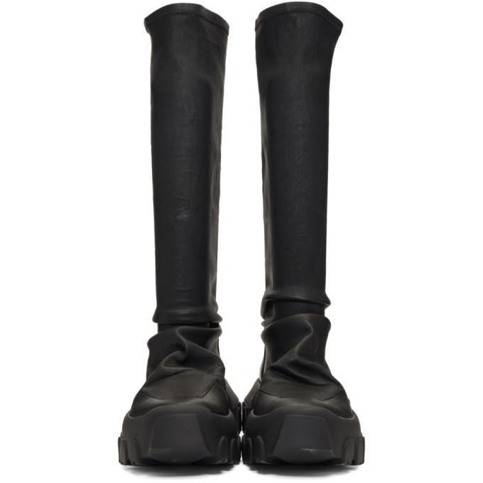 Rick Owens Black Hiking Sock Sneakers