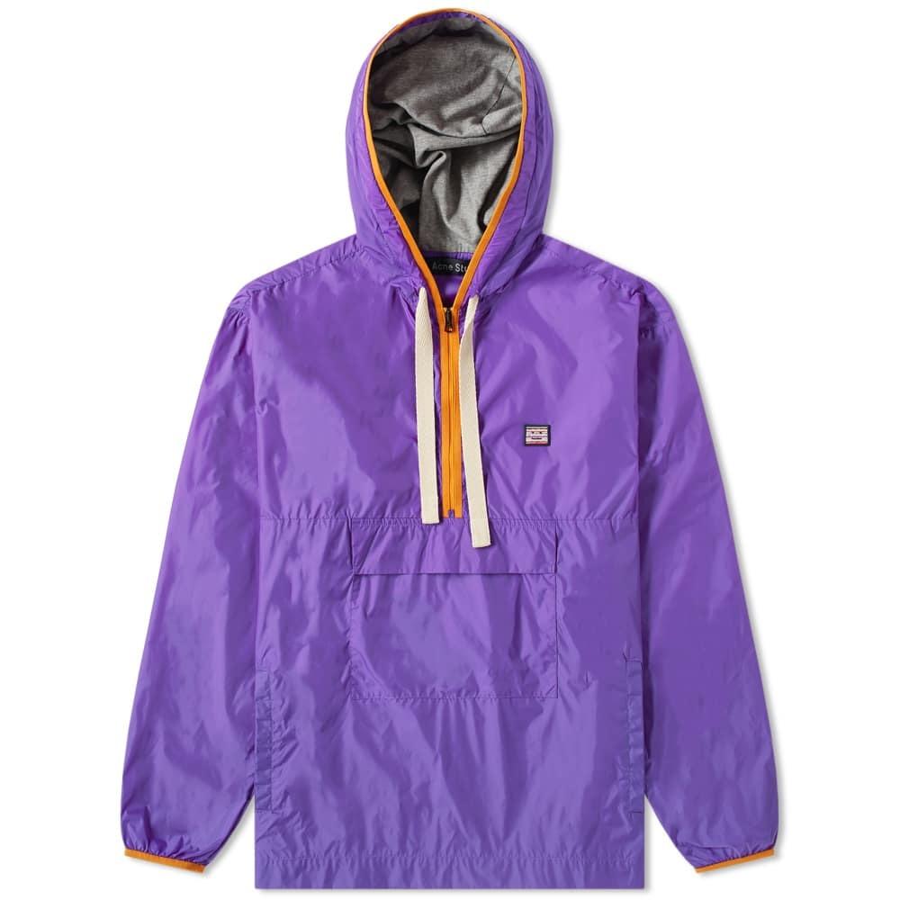 Photo: Acne Studios Osaze Half Zip Jacket Violet Purple