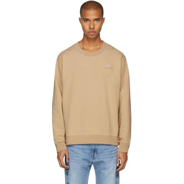032c Beige Crystal Crewneck Sweatshirt