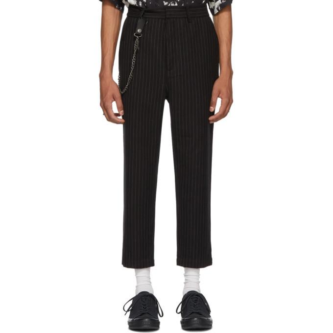 Ksubi Black Pinstriped Sid Trousers