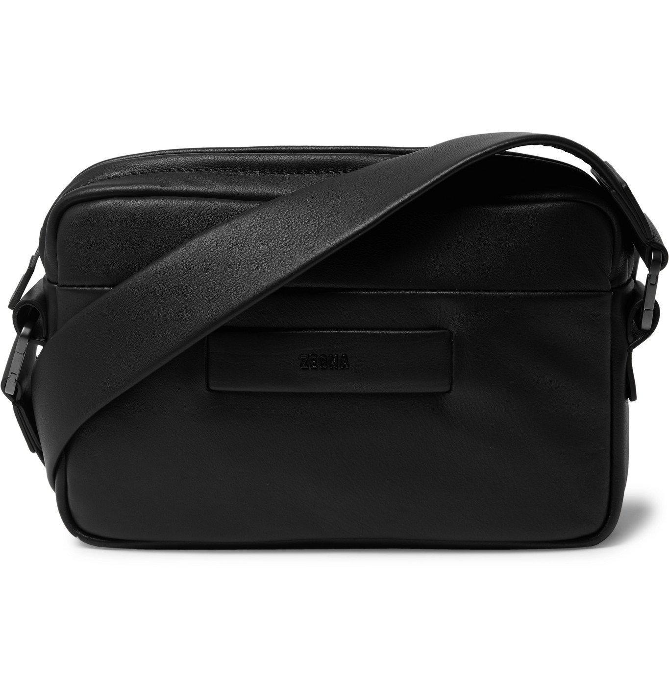 Photo: Fear of God for Ermenegildo Zegna - Logo-Detailed Leather Messenger Bag - Black