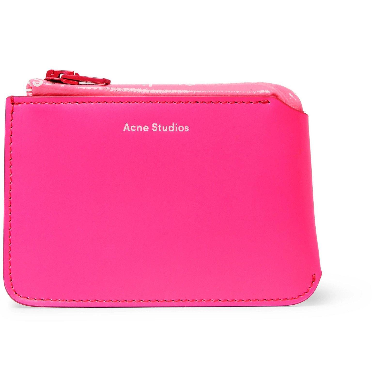 Photo: Acne Studios - Logo-Print Leather Wallet - Pink