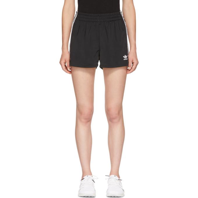 adidas Originals Black 3-Stripes Shorts