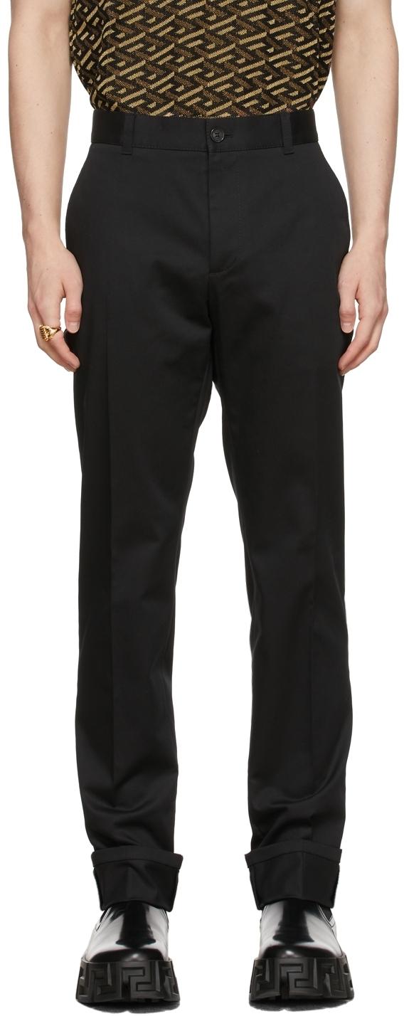 Photo: Versace Black Greca Trousers