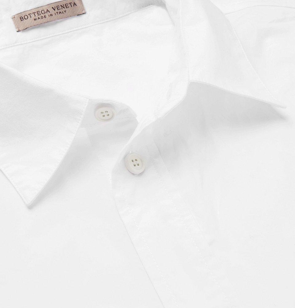 Bottega Veneta - Crinkled Cotton-Poplin Shirt - White