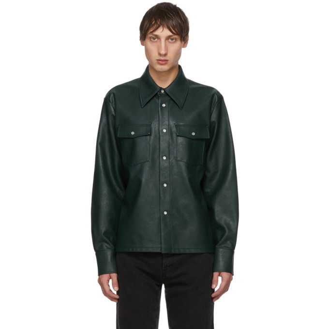 Photo: Sefr Green Faux-Leather Matsy Jacket