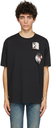 Raf Simons Black Fred Perry Edition Printed Patch T-Shirt