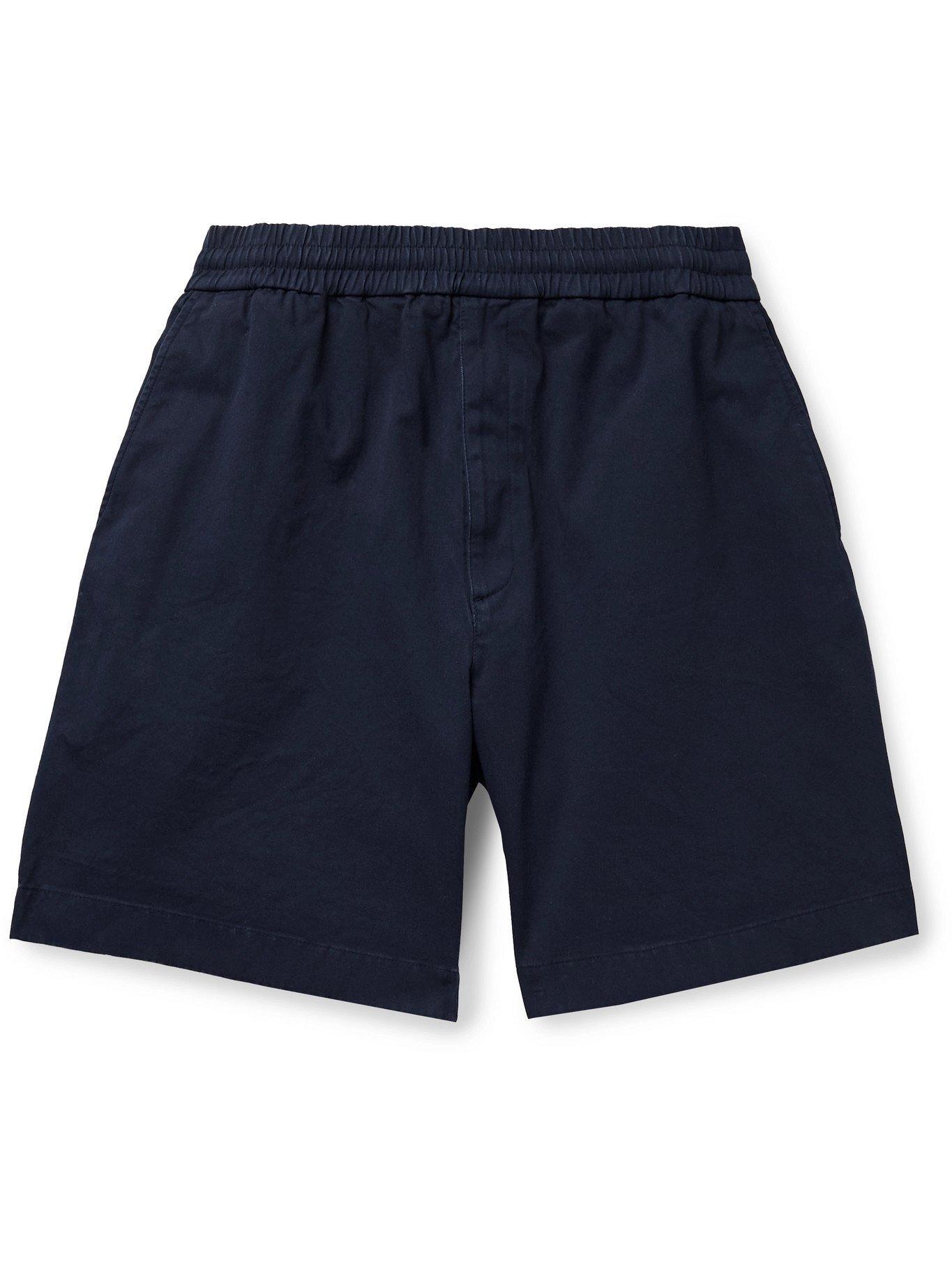 Photo: ACNE STUDIOS - Cotton-Blend Twill Shorts - Blue - IT 44